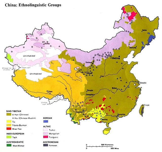 Archivo:Ethnolinguistic map of China 1983.jpg