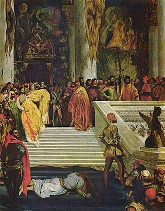 Marino Faliero - The Execution of Marino Faliero, by Eugène Delacroix (1827, Wallace Collection).