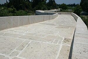 Eurymedon Bridge (Aspendos) - Close-up of the zigzag course