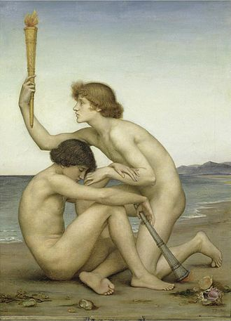 Image scaling - Image: Evelyn de Morgan Phosphorus and Hesperus, (1881)