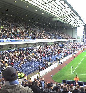 Blackburn Rovers F.C. - The Jack Walker Stand during a match