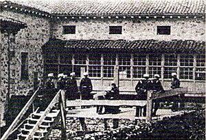 Fotografía del día de la ejecución de Angiolillo.