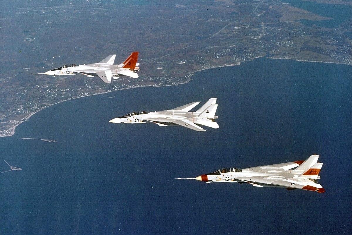 F-14 Tomcat prototypes in flight c1972.jpg