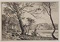 F. Hendriksen efter forlæg af Janus la Cour, Lunden ved Silkeborg op imod Fruens Bænk, Kks9612, Den Kongelige Kobberstiksamling.jpg
