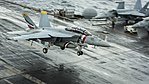 FA-18F Super Hornet of VFA-2 landing aboard USS Carl Vinson (CVN-70) in the South China Sea on 27 February 2018 (180227-N-WE240-0176).JPG
