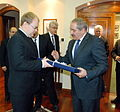 FM Urmas Paet met with the Foreign Minister of Jordania Nasser Judeh. 9.01.2013 (8369107939).jpg