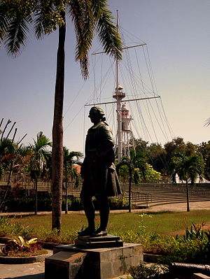 Malaysia - Statue of Francis Light in the Fort Cornwallis of Penang, the first British colony in what was to become Malaysia.