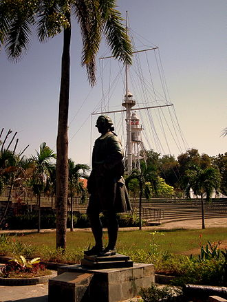 Malaysia - Statue of Francis Light in the Fort Cornwallis of Penang, the first British colony in what was to become Malaysia