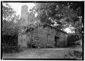 FRONT (NORTH) AND EAST SIDE - Adam Weaver Log House, U.S. Highway 72, Rogersville, Lauderdale County, AL HABS ALA,39-ROG.V,1-2.tif