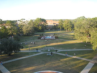 Florida State University - Landis Green is located in the center of the main campus