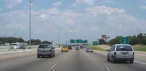 Interstate 20 in Texas - I-20 in southern Fort Worth