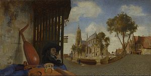 Delft School (painting) - A View of Delft (1652) by Carel Fabritius