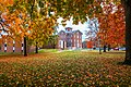 Fall at Lincoln College, Lincoln, Illinois, showing University Hall.jpg