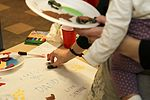 Families decorate pillows for deployed 2 Fury paratroopers 130208-A-DP764-005.jpg