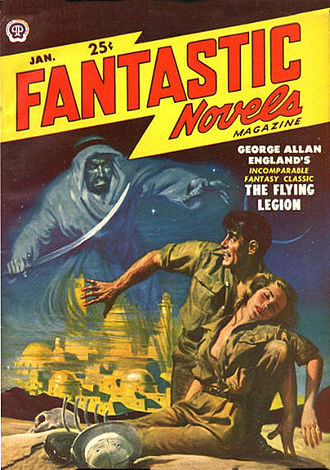 George Allan England - The Flying Legion was republished in the January 1950 issue of Fantastic Novels.