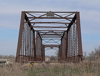 National Register of Historic Places listings in Franklin County, Nebraska - Image: Farmers Bridge 2