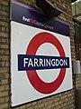 Farringdon station Thameslink roundel and sign.JPG