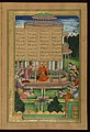 Farrukh - The Princesses of the Seven Pavilions Bow in Homage to Bahram Gur - Walters W624182B - Full Page.jpg