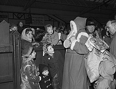 Father Christmas arriving at Pwllheli by train.jpg