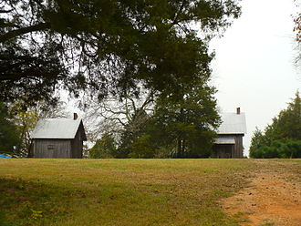 Faunsdale, Alabama - Faunsdale Plantation slave quarters in 2008
