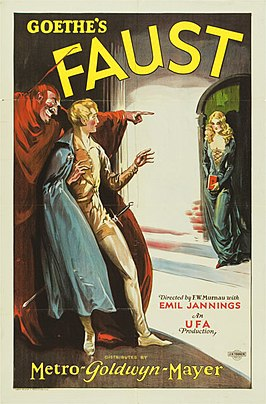 Amerikaanse filmposter Faust.