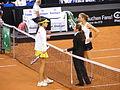 Fed Cup 2013 Germany vs Serbia - Prematch Barthel Ivanovic 02.jpg