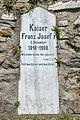 Feldkirchen Waiern Martin-Luther-Straße 7 Haus Abendruh Park Gedenkstein Franz Josef I. 20072019 6869.jpg