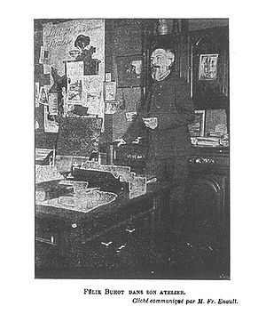 Félix Buhot - Félix Buhot in his studio.