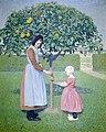Ferdinand Hart Nibbrig - Twee kinderen onder een appelboom 1905.jpg