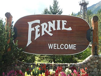 Fernie, British Columbia - Fernie's welcome sign