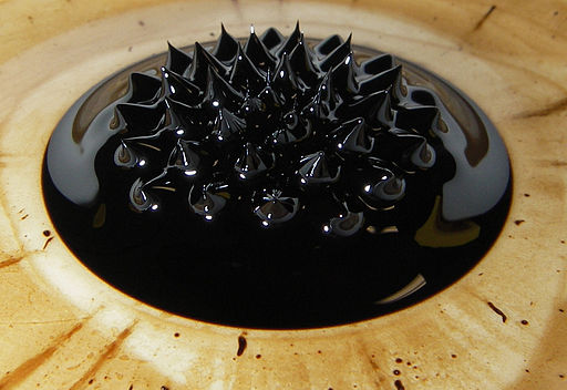 Ferrofluid in magnetic field