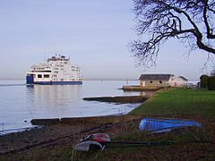 Ferry leaving Fishbourne, IW, UK.jpg