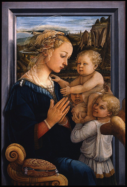Filippo Lippi - Madonna col Bambino e due angeli - Google Art Project