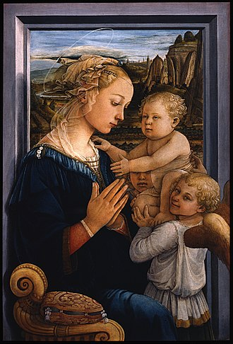 Madonna and Child (Lippi) - Image: Filippo Lippi Madonna col Bambino e due angeli Google Art Project