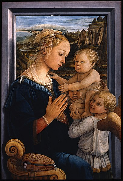 Archivo:Filippo Lippi - Madonna col Bambino e due angeli - Google Art Project.jpg