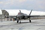 First F-35B Lightning II arrives at MCAS Beaufort 140717-M-UU619-715.jpg