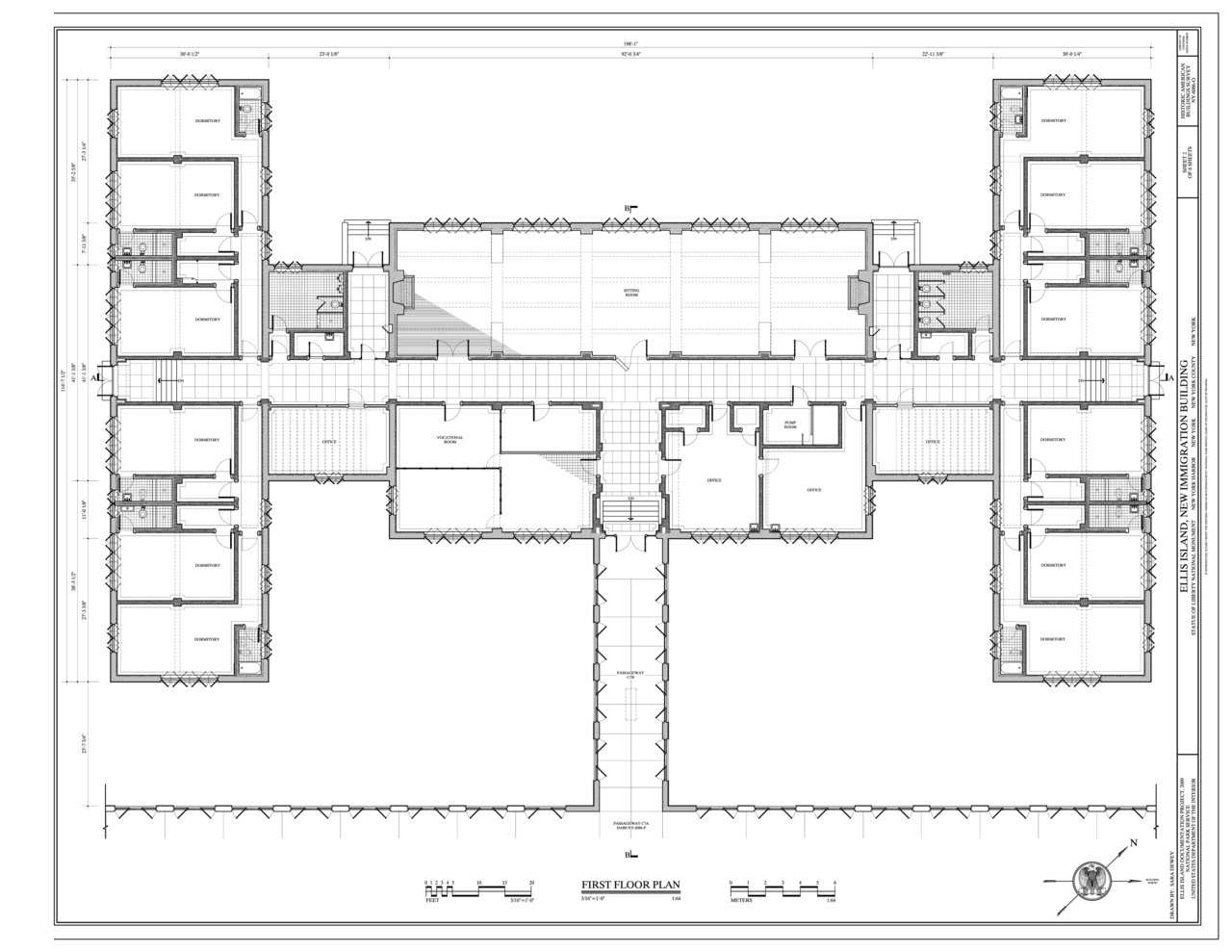 File first floor plan ellis island new immigration for Floor plans new construction