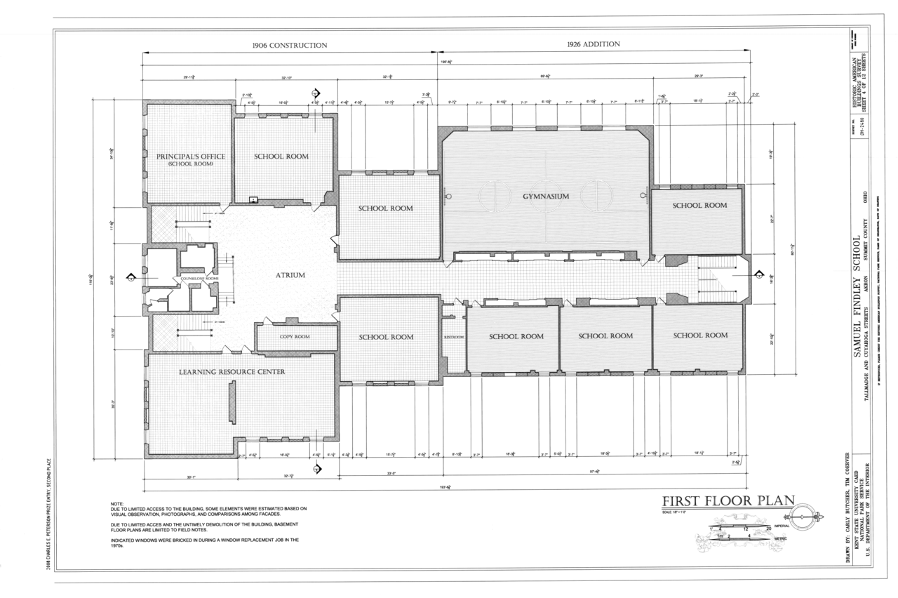 File First Floor Plan Samuel Findley School Tallmadge