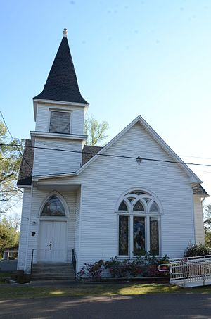 National Register of Historic Places listings in Lafayette County, Arkansas - Image: First Presbyterian Church, Stamps, AR