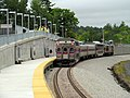 First revenue train at Wachusett station (1), September 2016.JPG