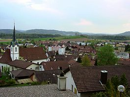 Fislisbach - Fislisbach village from Buech hill