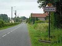 Fléchin (Pas-de-Calais) city limit sign Fléchin.JPG