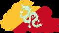 Flag map of Bhutan (1949-1956).png