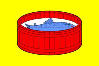 Luga, Leningrad Oblast - Image: Flag of Luga