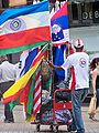 Flag vendor on Briggate in Leeds (24th June 2010) 002.jpg