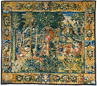 Stradanus - Image: Flanders Tapestry with the hunting scene