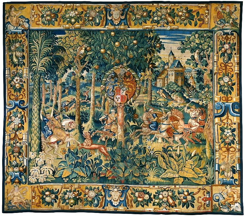 Flanders Tapestry with the hunting scene