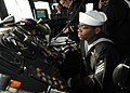 Flickr - Official U.S. Navy Imagery - Sailor acts as the master helmsman, piloting USS Thach.jpg