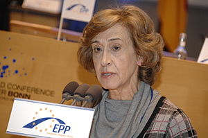 Manuela Ferreira Leite - Image: Flickr europeanpeoplesparty EPP Congress Bonn (696)