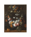 Flower Garland and Gilded Bowl of Fruit (Gaspar Peeter Verbruggen d.y.) - Nationalmuseum - 17679.tif